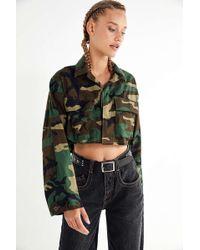 Urban Renewal - Remade Cropped Vintage Camo Jacket - Lyst