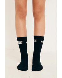 Vans   Black Logo Crew Socks   Lyst