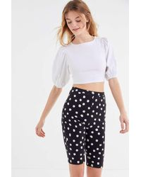 Urban Outfitters Uo Perry Polka Dot Bike Short