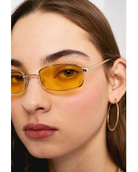 Urban Outfitters - Ella Square Metal Sunglasses - Lyst