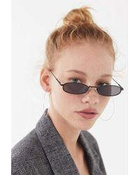 4ff08dd04d Lyst - Urban Outfitters Super Slim Metal Sunglasses in Metallic