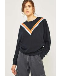 BDG - V-stripe Black Batwing Sweatshirt - Lyst