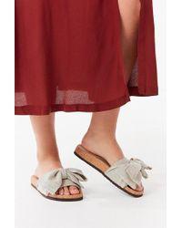 Urban Outfitters | Uo Linen Twist Pool Slide | Lyst