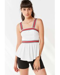 C/meo Collective - Moved Striped Peplum Top - Lyst