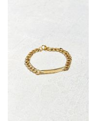 Urban Outfitters - Uo Gold Id Chain Bracelet - Lyst