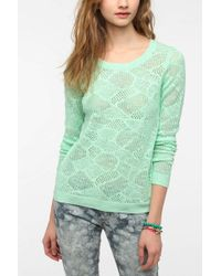 Pins And Needles - Patterned Mesh Pullover Sweater - Lyst