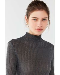 Urban Outfitters - Uo Poppy Pointelle Turtleneck Sweater - Lyst
