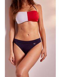 843cddfa9d5f6 Tommy Hilfiger Stripe Tie-side Bikini Bottom - Womens M in Blue - Lyst
