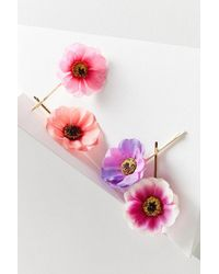 Urban Outfitters - Floral Bobby Pin Set - Lyst