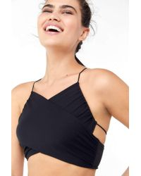 Urban Outfitters - Uo Mariah Strappy Cross-front Cropped Cami - Lyst