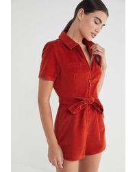 46a104fd035 Urban Outfitters · BDG - Hello Sunshine Corduroy Romper - Lyst
