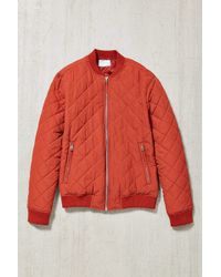 Your Neighbors - Devon Quilted Bomber Jacket - Lyst