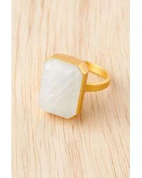 Ringly - Rainbow Moonstone Smart Ring - Lyst