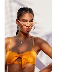 Urban Outfitters - Bella Slim Oval Sunglasses - Lyst
