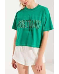 Truly Madly Deeply - Keep Portland Green Tee - Lyst