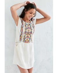 See U Soon - Embroidered Shift Dress - Lyst
