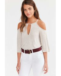 Silence + Noise - Sofia Cold Shoulder Top - Lyst
