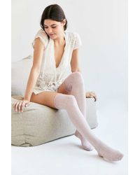 Urban Outfitters - Ruched Cuff Thigh High Sock - Lyst