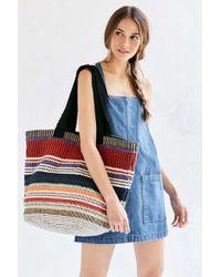 Ecote - Woven Stripe Tote Bag - Lyst