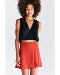 Cooperative - Kendric Notch-hem Mini Skirt - Lyst