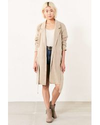 BDG | Marci Canvas Trench Coat | Lyst