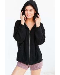 Out From Under - Cozy Oversized Zip-up Sweatshirt - Lyst