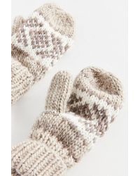 Urban Outfitters - Intarsia Knit Mitten - Lyst