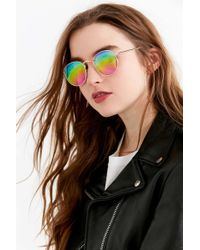 Urban Outfitters - Dyllon Round Metal Sunglasses - Lyst