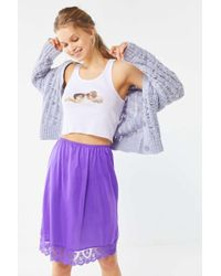 1701ad0928fe Silence + Noise Plaid Menswear Zip-Pocket Mini Skirt in Black - Lyst