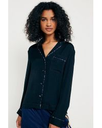 Urban Outfitters - Uo Marguerite Button-down Pyjama Top - Lyst