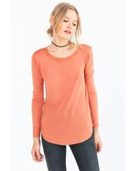 Silence + Noise - Astrid Long-sleeve Shirttail Tee - Lyst