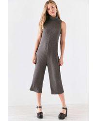 Kensie - Rib Sweater Turtleneck Culotte Jumpsuit - Lyst