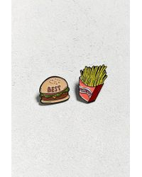 Valley Cruise Press - X Uo Burger And Fries Pin Set - Lyst