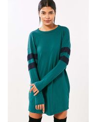Truly Madly Deeply - Oversized Varsity Stripe T-shirt Dress - Lyst