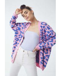 Lazy Oaf - Pink Leopard Cardigan - Lyst