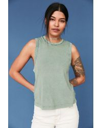 Silence + Noise - Washed Out Muscle Tee - Lyst