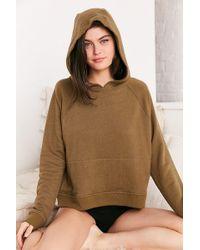 Out From Under - Shrunken Hoodie Sweatshirt - Lyst