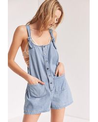 BDG - Andy Button-front Tie-strap Shortall Overall - Lyst
