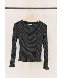 Urban Renewal - Vintage Silver Glitter Thread Knit Long-sleeved Top - Lyst
