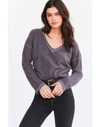 Truly Madly Deeply - V-neck Pullover Sweatshirt - Lyst