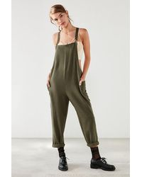 3fb159787ac BDG - Shapeless Cropped Olive Jumpsuit - Lyst