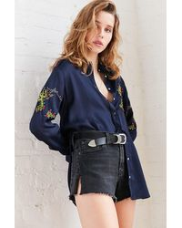 BDG | Embroidered Cactus Button-down Blouse | Lyst