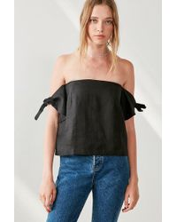 Sir. The Label - Bella Tie-sleeve Off-the-shoulder Top - Lyst