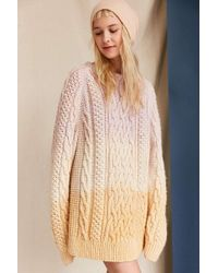 Urban Renewal - Uo Design X Vintage Dip Dyed Fisherman Sweater - Lyst