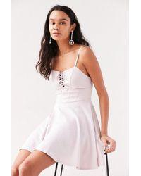 Kimchi Blue - Katie Lace-up Corset Mini Dress - Lyst