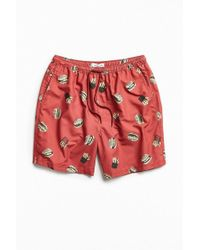 Urban Outfitters - Uo Burger And Fries Retro Short - Lyst