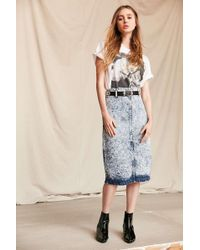 Urban Renewal - Vintage Bongo Denim Midi Skirt - Lyst