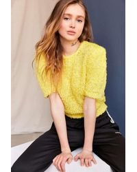 Urban Renewal - Vintage Yellow Textured Sweater - Lyst
