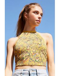 Urban Outfitters - Uo Oasis Smocked Halter Tank Top - Lyst