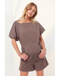 99999bf66b6 BDG - Aimee Coverall Romper - Lyst